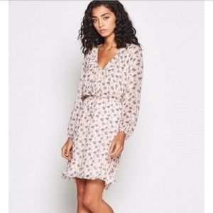 NWT Joie Marelle Silk Floral Dress, Pink Sky NEW